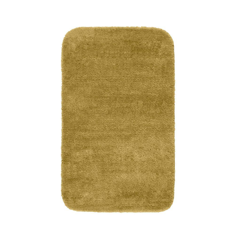 Garland Rug Traditional Linen 30 in. x 50 in. Washable Bathroom Accent Rug