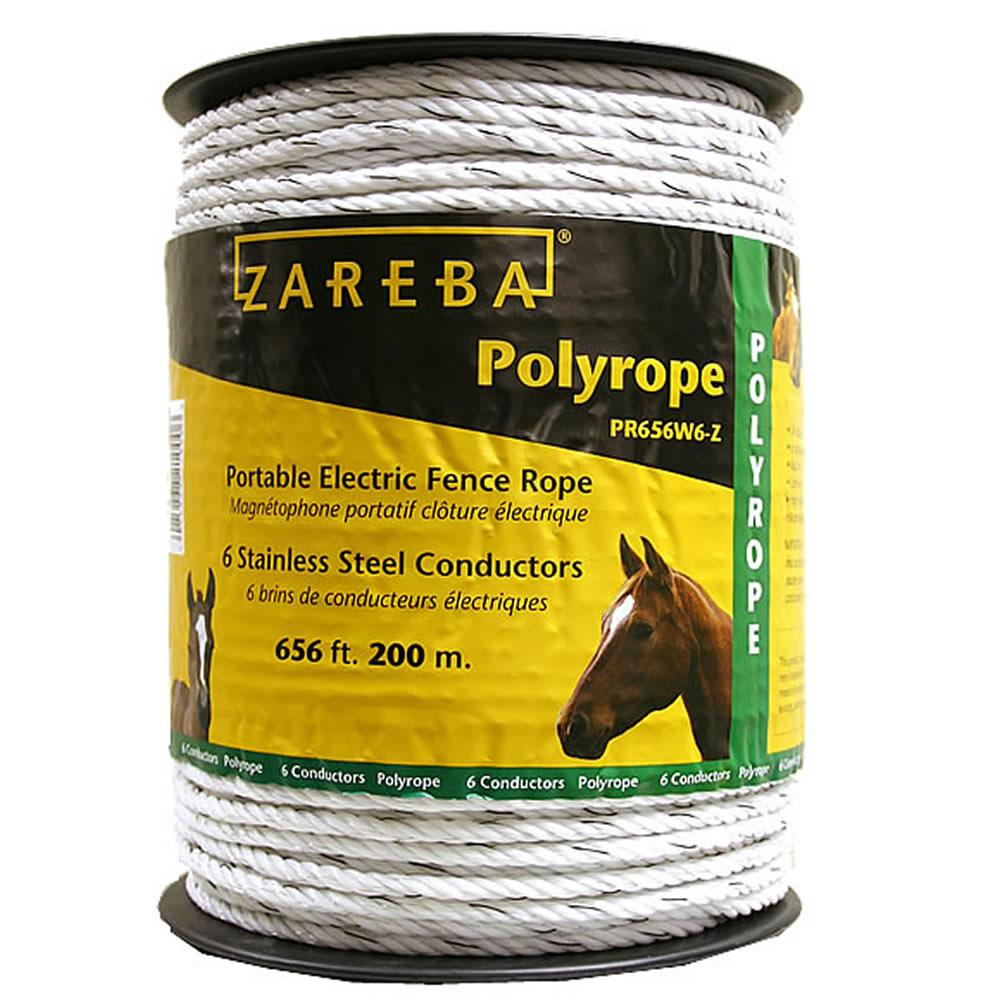 Zareba 200 M Polyrope Pr656w6 Z The Home Depot Fencing Electric Accessories 7 Strand Fence Wire Store Sku 318149