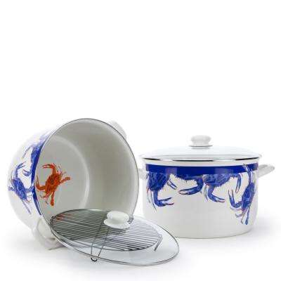 Blue Crab 18 qt. Enamelware Stock Pot with Lid
