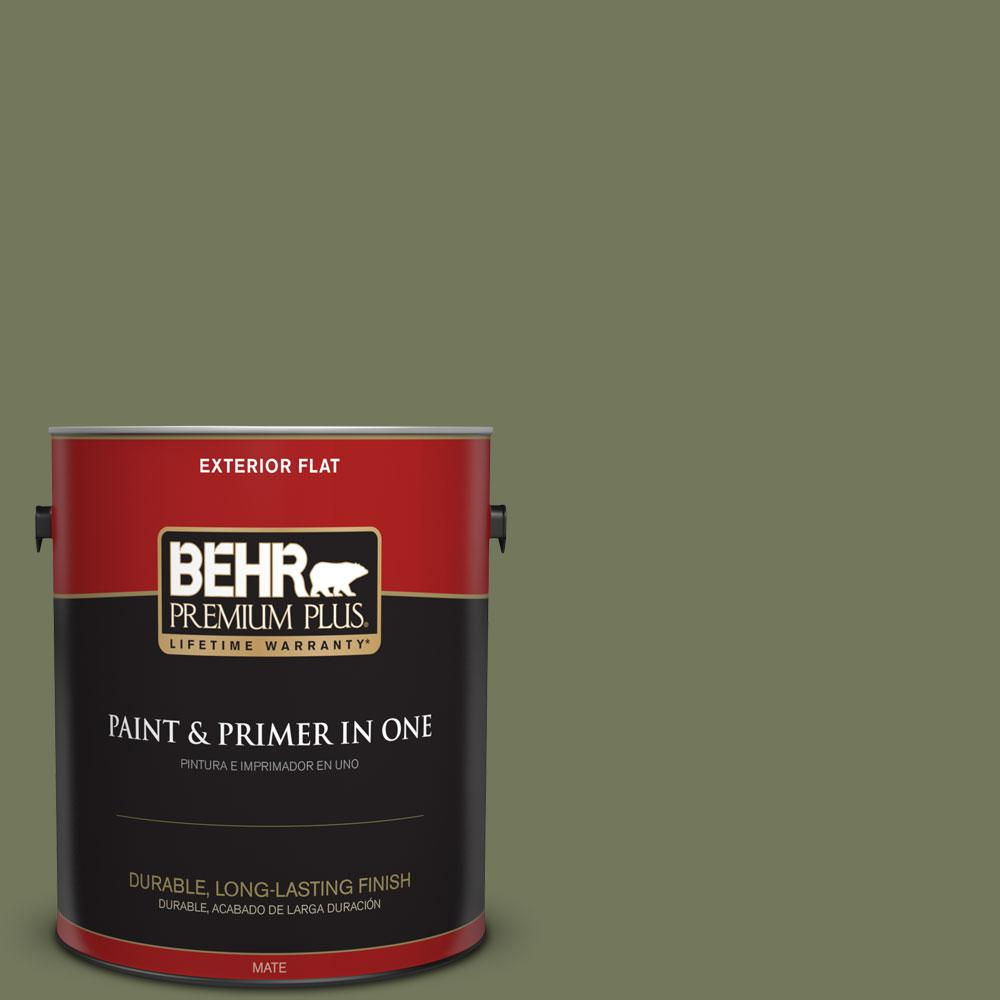 BEHR Premium Plus 1-gal. #BIC-56 Jalapeno Flat Exterior Paint