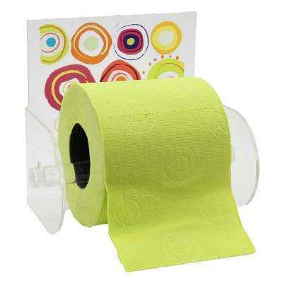 Vitamine Toilet Paper Holder Paper 1-Roll Holder Suction Mounted in 100% Acrylic