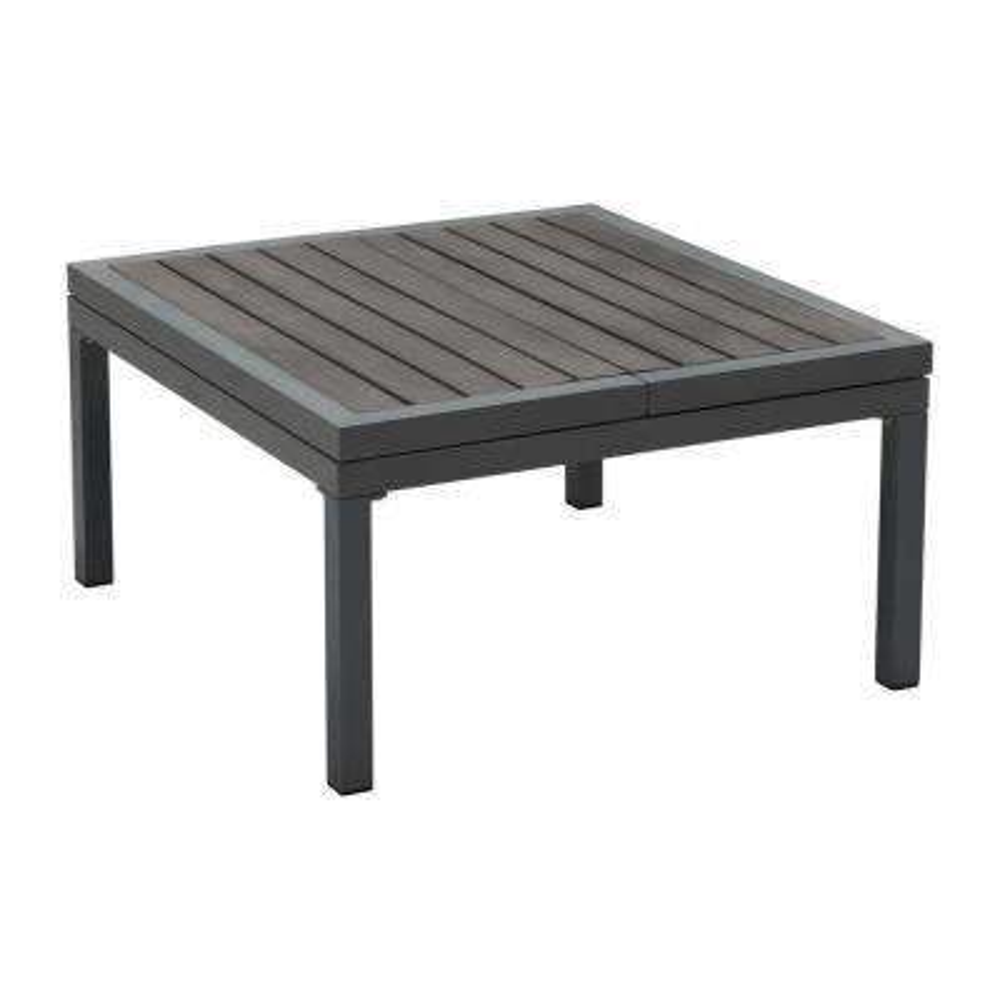 Santorini Dark Gray Aluminum Outdoor Coffee Table