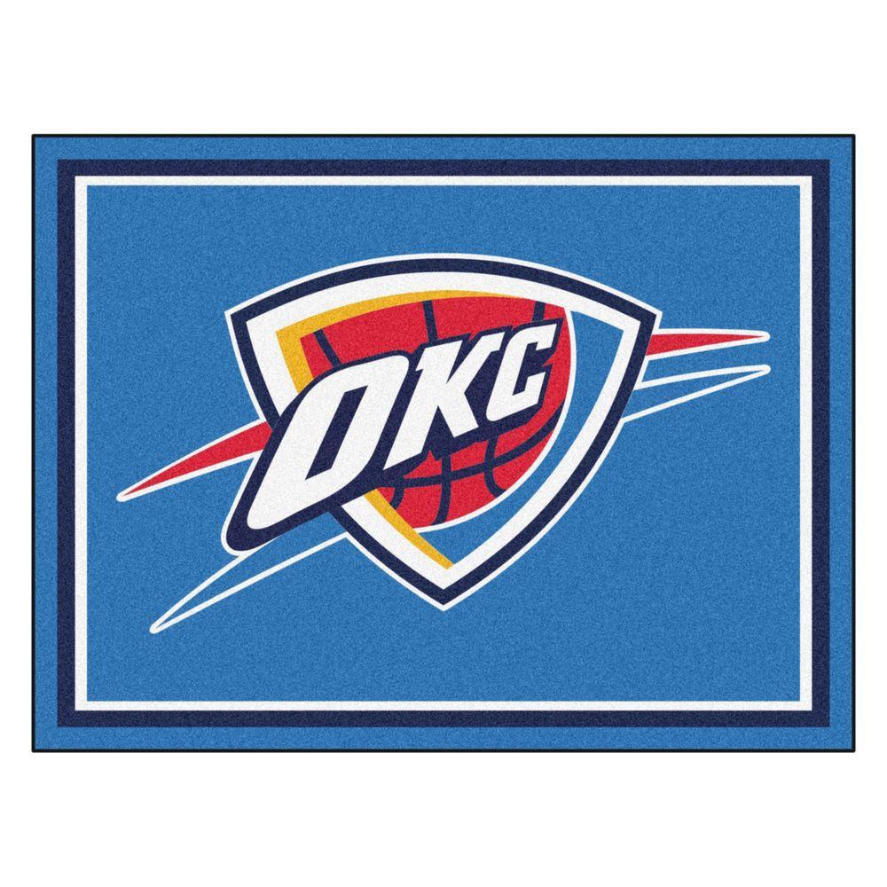 ee87593013b FANMATS NBA Oklahoma City Thunder Blue 8 ft. x 10 ft. Indoor Area ...