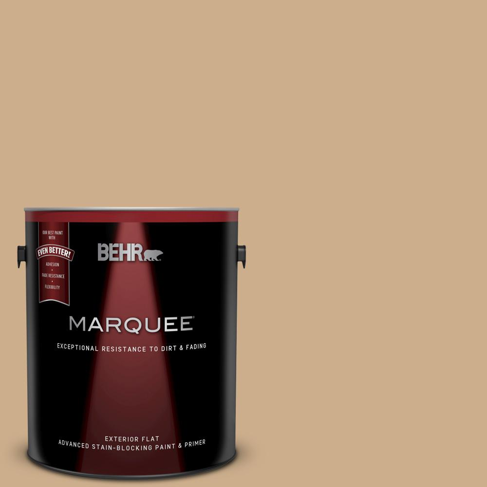 BEHR MARQUEE 1 gal  #PPU7-20 Raffia Ribbon Flat Exterior Paint and Primer  in One
