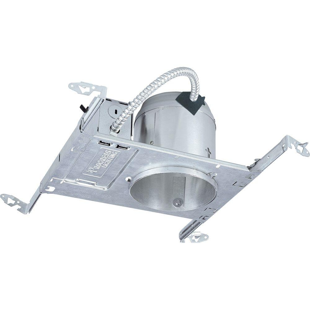 Progress Lighting 5 In. New Construction Recessed Metallic Housing With Air Tight Ic