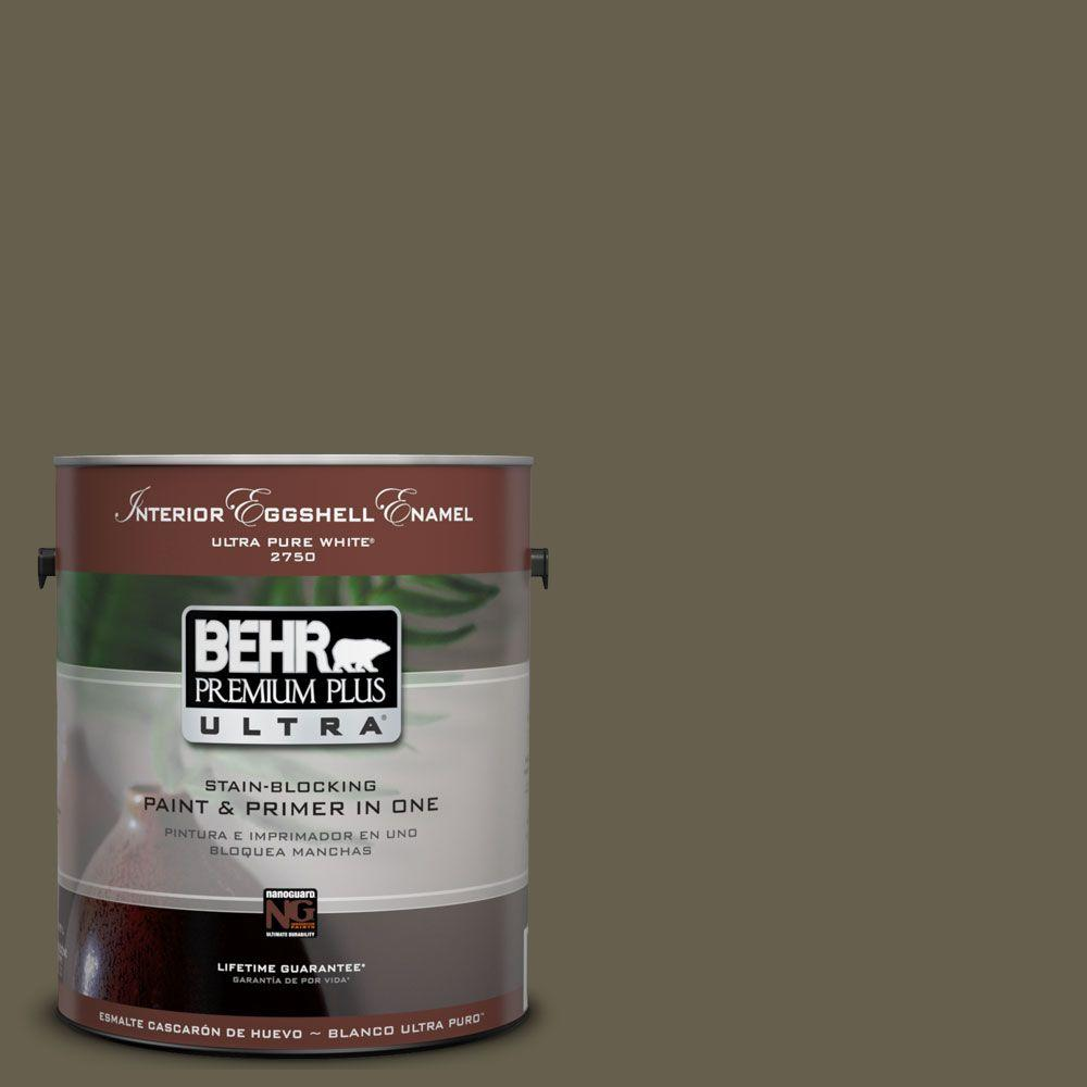 BEHR Premium Plus Ultra 1-Gal. #UL190-1 Ivy Topiary Interior Eggshell Enamel Paint