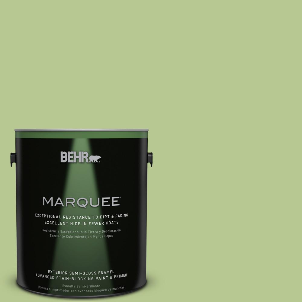 1-gal. #420D-4 Marsh Fern Semi-Gloss Enamel Exterior Paint
