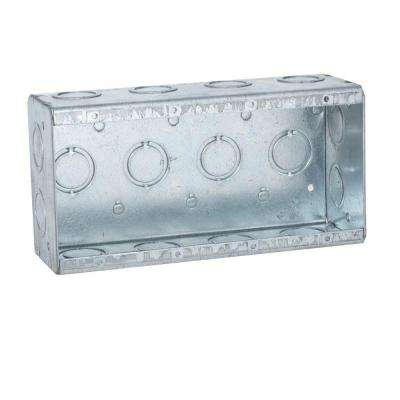 4-Gang Masonry Box, 2-1/2 in. Deep with 1/2 and 3/4 in Concentric KO's (10-Pack)