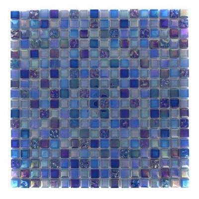 Capriccio Battipaglia 12 in. x 12 in. x 8 mm Glass Floor and Wall Tile