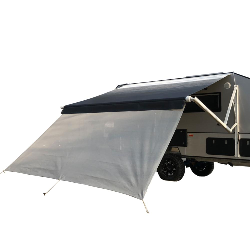 Brown RV Awning Shade Motorhome Patio Sun Screen Complete Deluxe Kit