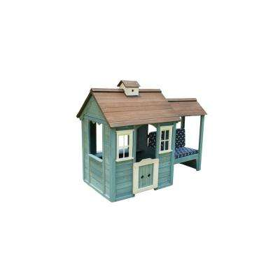 Wooden Playhouse with Bench