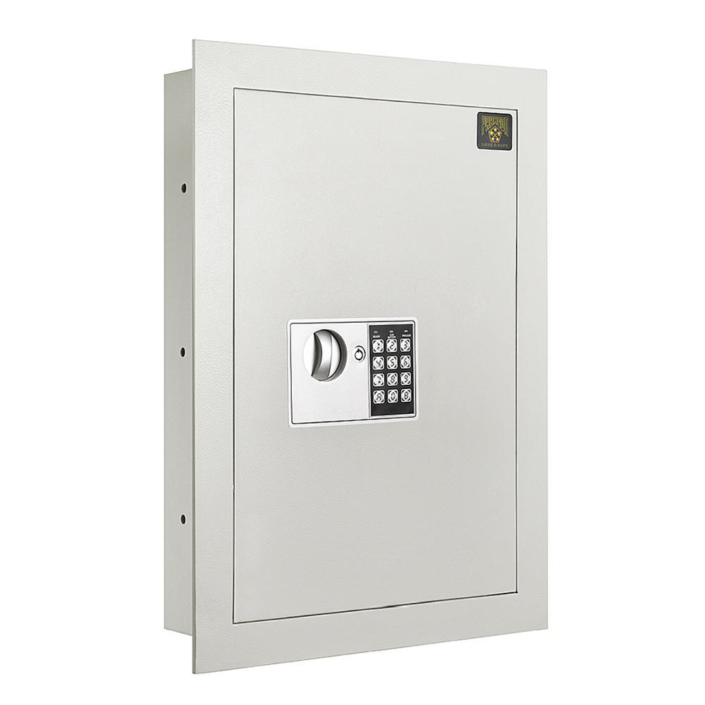 Paragon flat electronic wall hidden safe cf for large for Hidden floor safes for the home