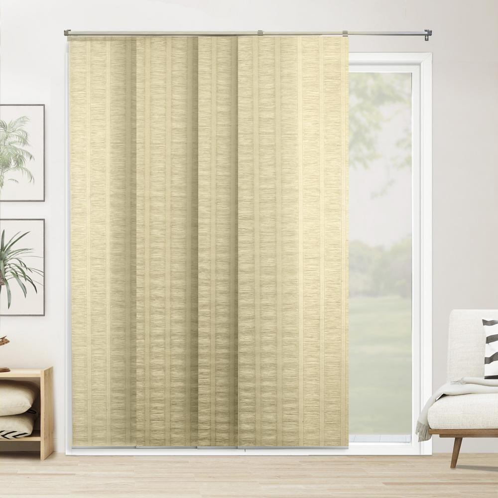 Cut-to-Width Panel Track Blind Florence Maize Paper and Polyester Cordless 22
