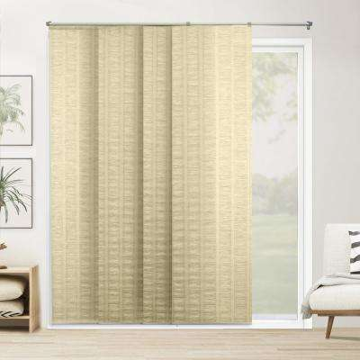 Cut-to-Width PanelTrack Blind Florence Maize Paper and Polyester Cordless 22 in. Vertical Blind - 80 in. W x 96 in. L