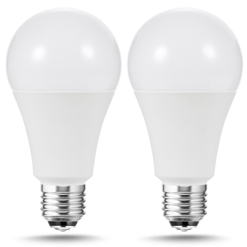 Ecosmart 40 60 100 Watt Equivalent A19 Energy Star 3 Way Led Light Bulb Daylight 2 Pack A7a19a100wesp02 The Home Depot