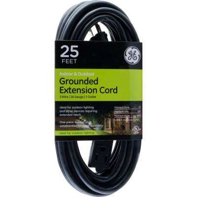 25 ft. 3-Outlet Indoor/Outdoor Extension Cord