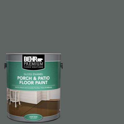 1 gal. #BXC-41 Charcoal Gloss Enamel Interior/Exterior Porch and Patio Floor Paint