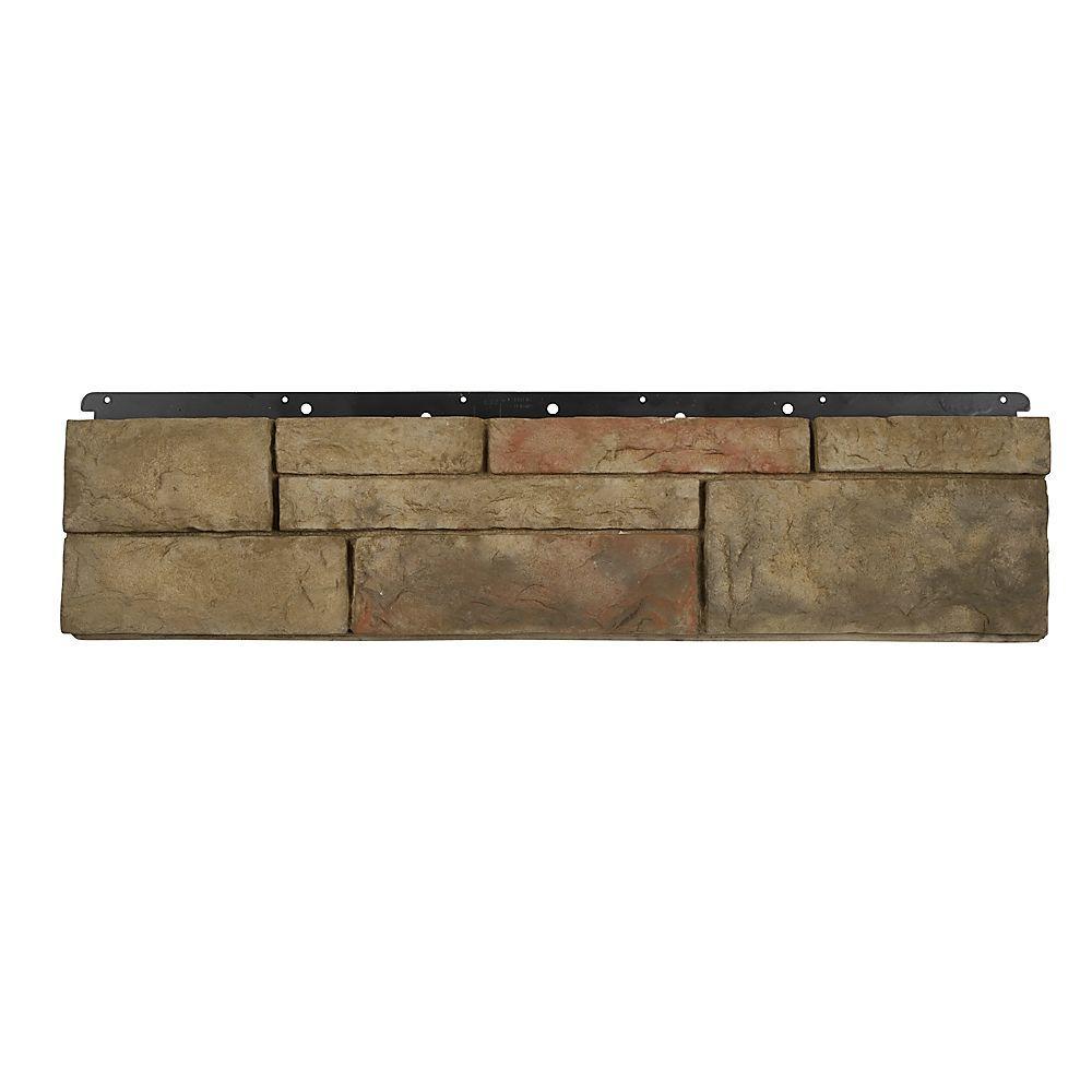 Boral 8 in. x 36 in. Versetta Stone Tight-Cut Flat Terra Rosa Siding (6-Bundles), Multi-Colored -  4210635