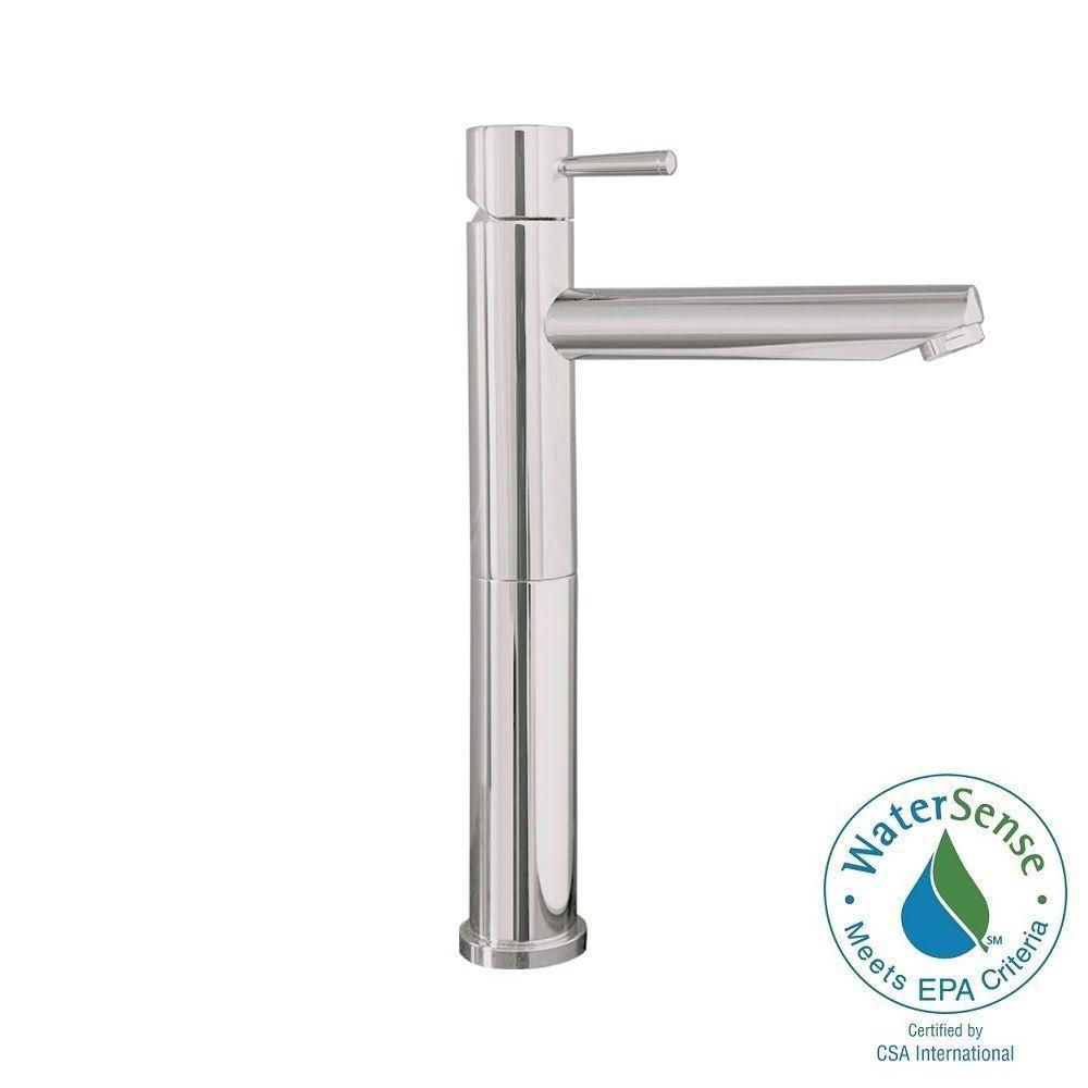 American Standard Serin Single Hole Single-Handle High-Arc Vessel Bathroom Faucet in Brushed Nickel