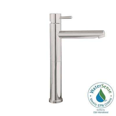 Serin Single Hole Handle High Arc Vessel Bathroom Faucet in Brushed  Nickel Sink Faucets The Home Depot