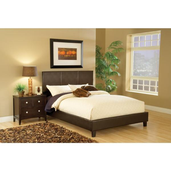 Hillsdale Furniture Harbortown Brown Queen Upholstered Bed 1611BQR