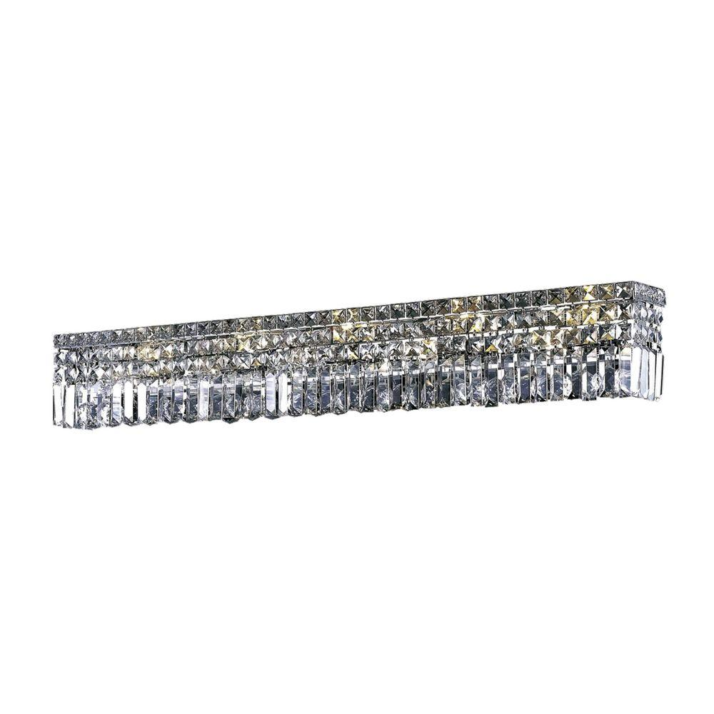 Elegant Lighting 10-Light Chrome Wall Sconce with Clear Crystal