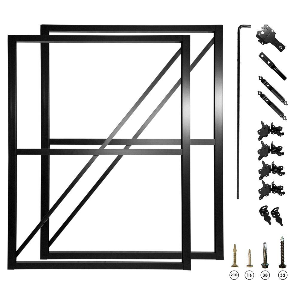 double fence gate frame kit 007 1403 the home depot - Metal Picture Frame Kits