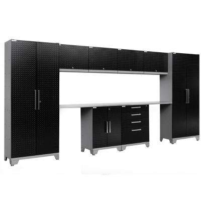 Performance Diamond Plate 2.0 72 in. H x 156 in. W x 18 in. D Garage Cabinet Set in Black (10-Piece)