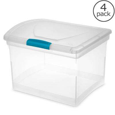 Show Off 35 Qt. Storage File Box (4-Pack)