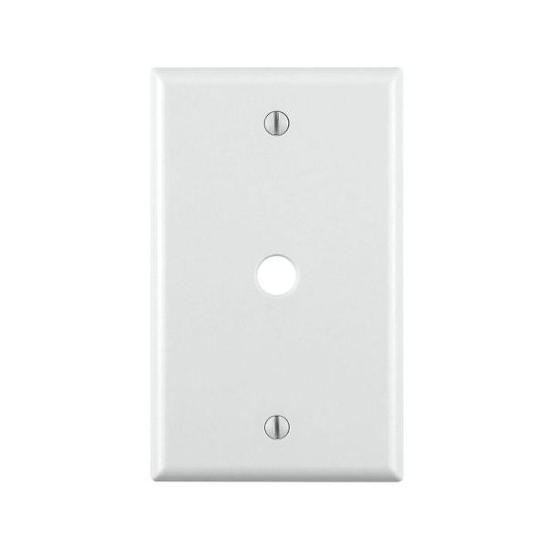 1-Gang Phone/Cable Box Mount Wall Plate White