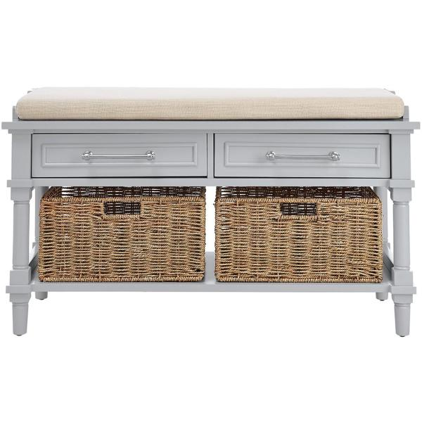 Home Decorators Collection Aberdeen Dove Grey Storage Bench 9950100270