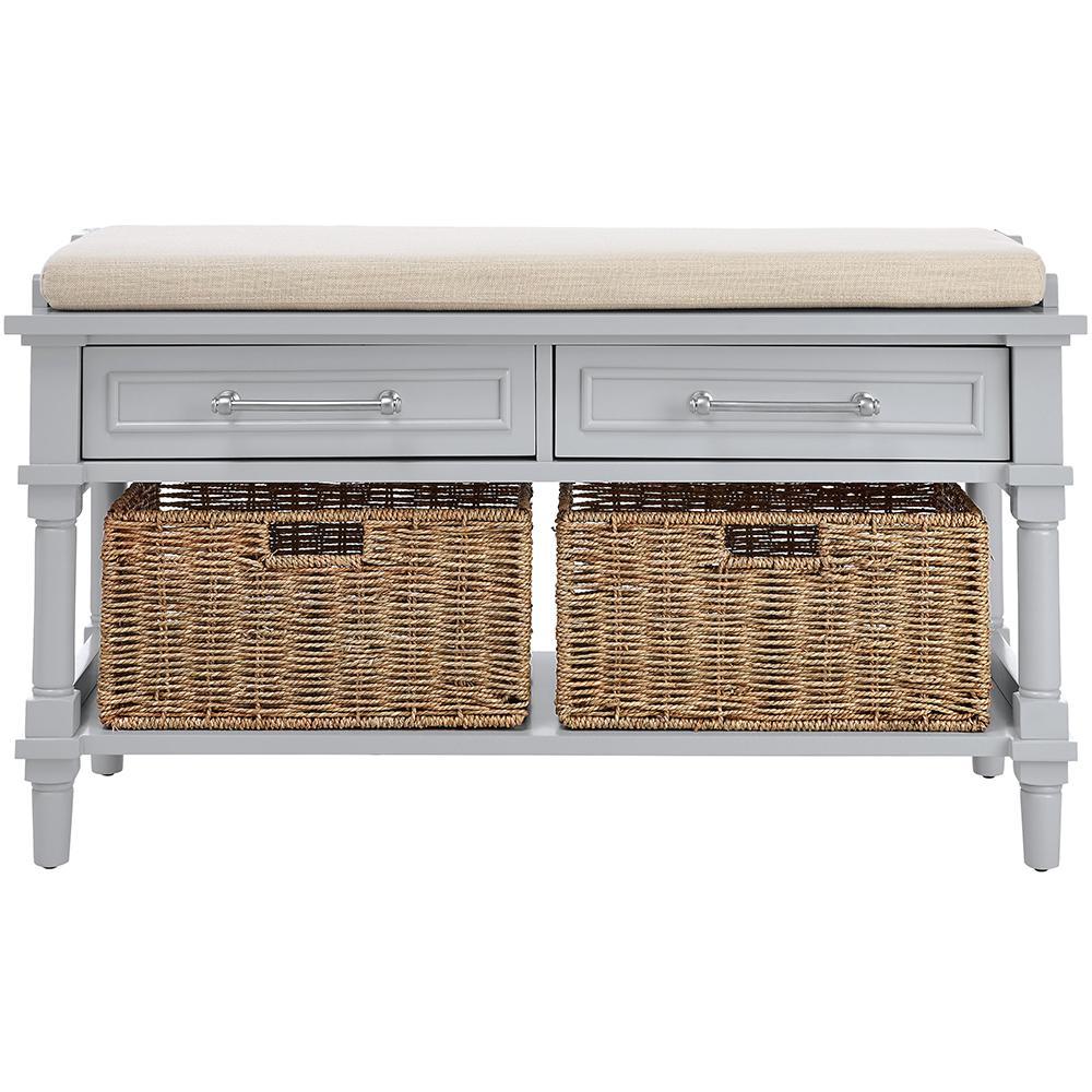Aberdeen Dove Grey Storage Bench
