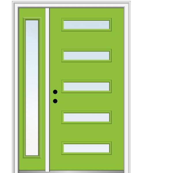 Mmi Door 51 In X 81 75 In Davina Low E Glass Right Hand 5 Lite Modern Painted Fiberglass Smooth Prehung Front Door W Sidelite Z0346408r The Home Depot