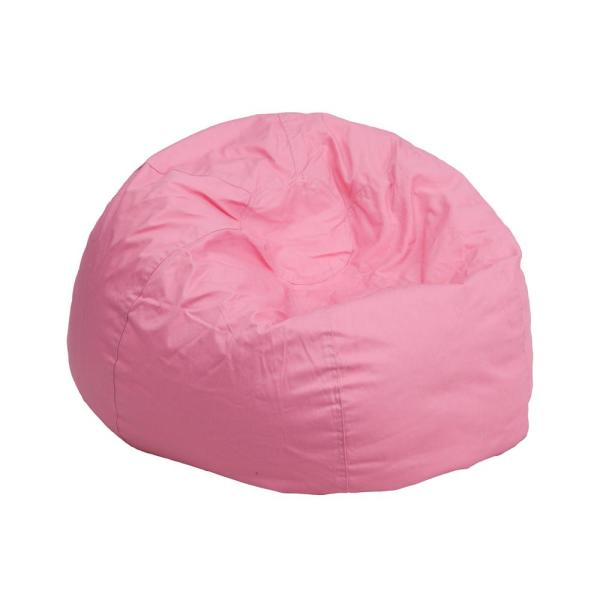 Flash Furniture Small Solid Light Pink Kids Bean Bag Chair