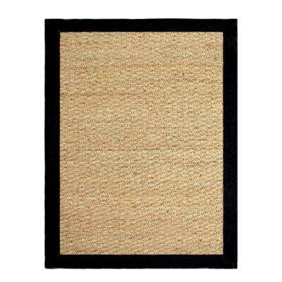 Seagrass Black 3 ft. x 5 ft. Indoor Area Rug