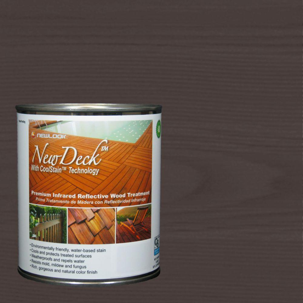 NewDeck 1 qt. Water-Based Black Walnut Infrared Reflective Wood Stain