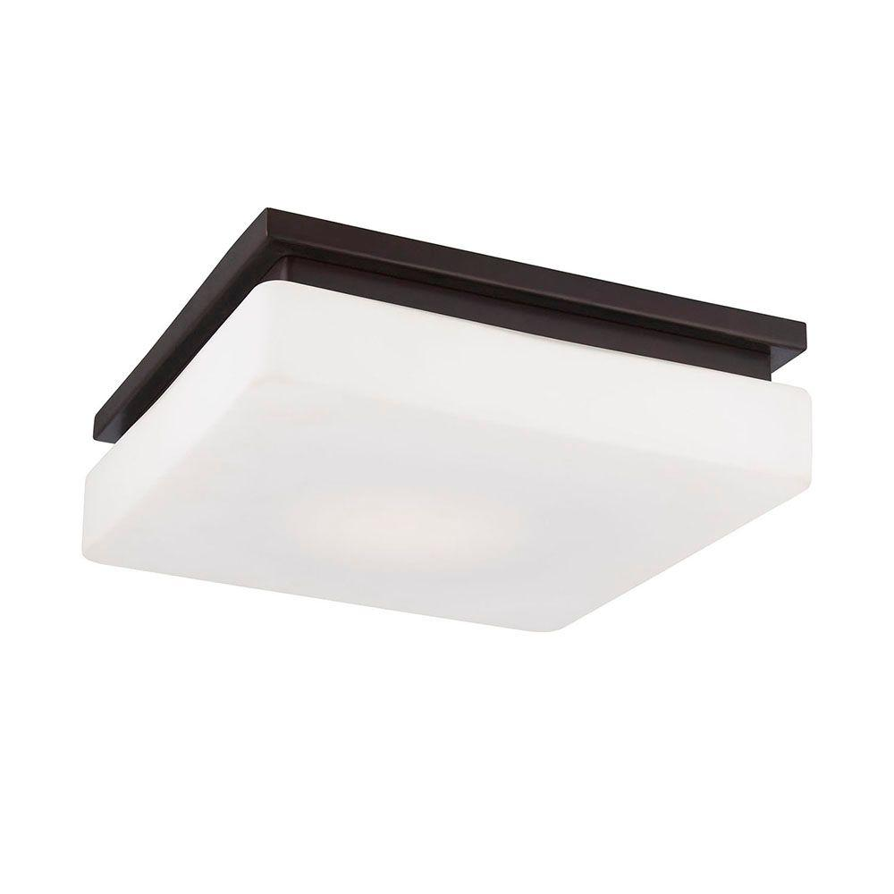 Ellsworth Collection 1-Light Bronze LED Flushmount
