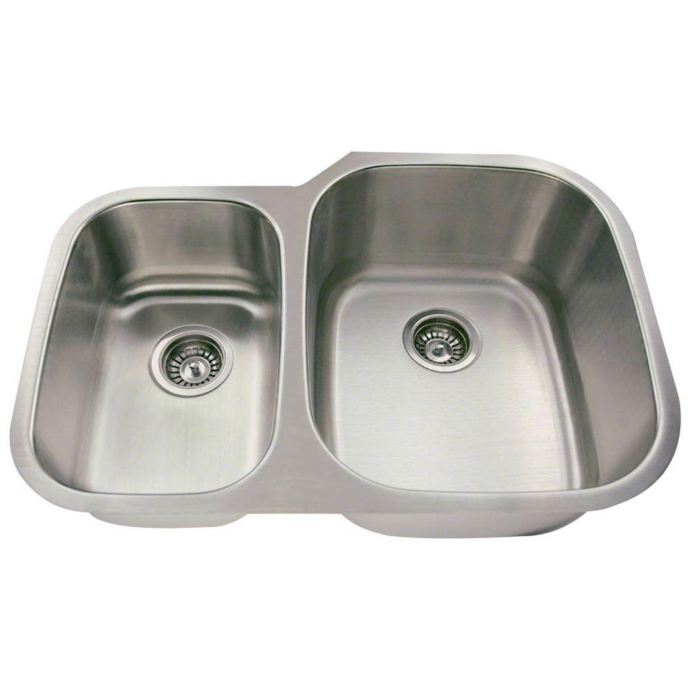 Polaris Sinks Undermount Stainless Steel 29 In Double