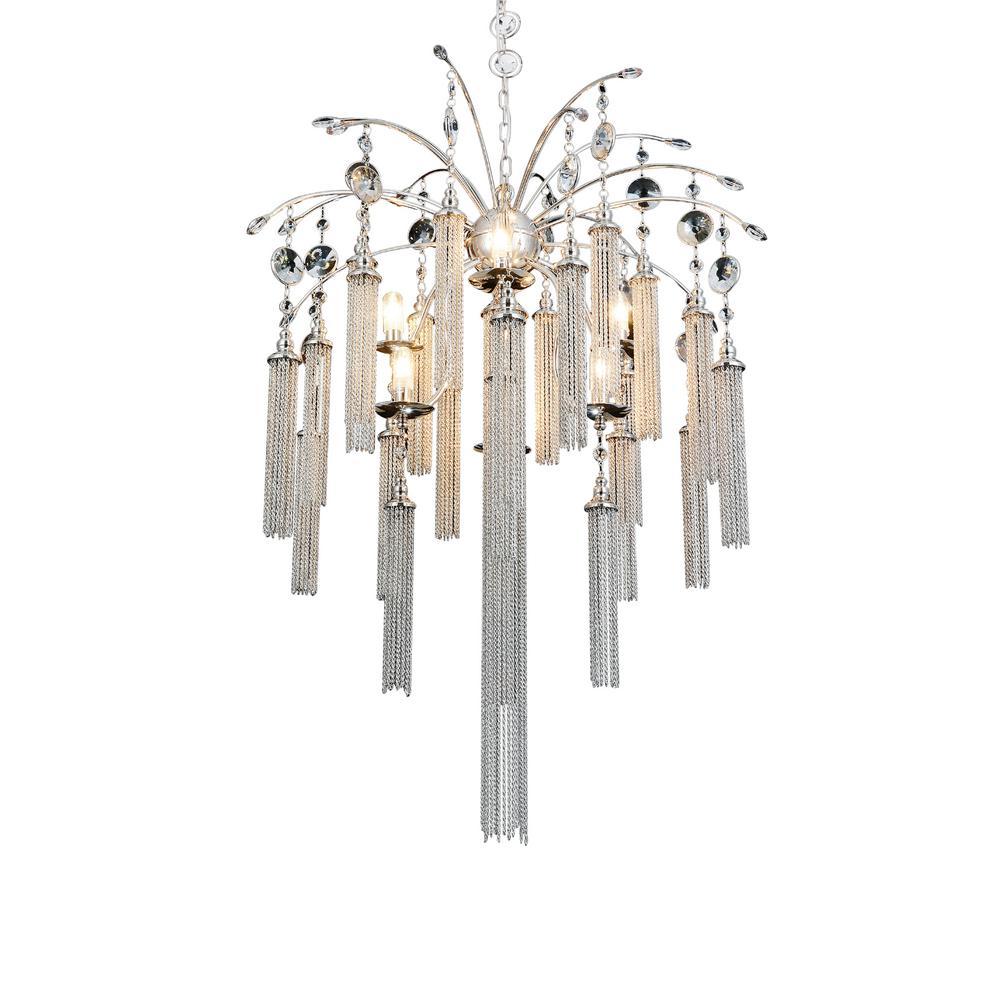 Chloe 7-light chrome chandelier