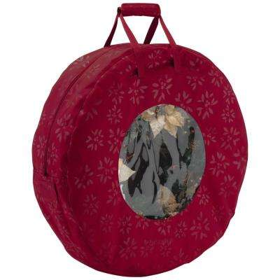 Cranberry Seasons Wreath Storage Bag in Large