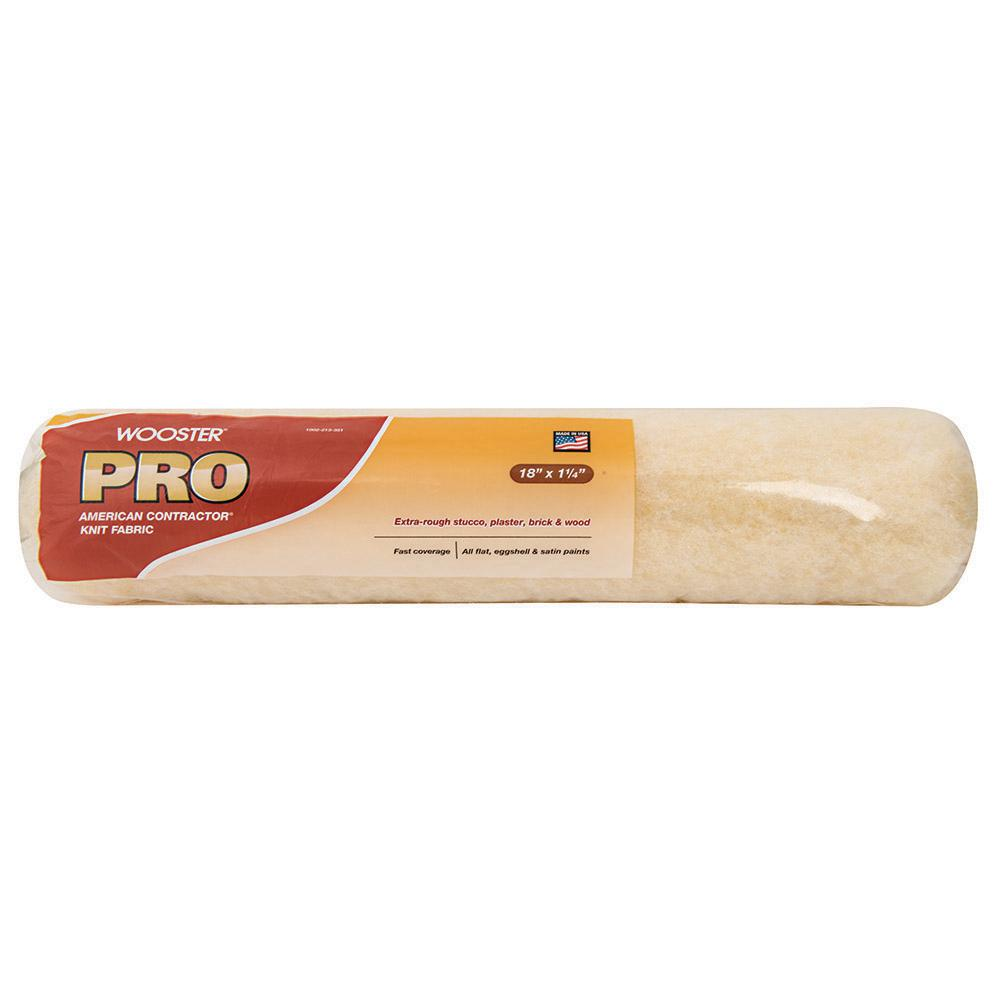 Wooster Pro 18 in. x 1-1/4 in. American Contractor High-Density Knit Fabric Roller