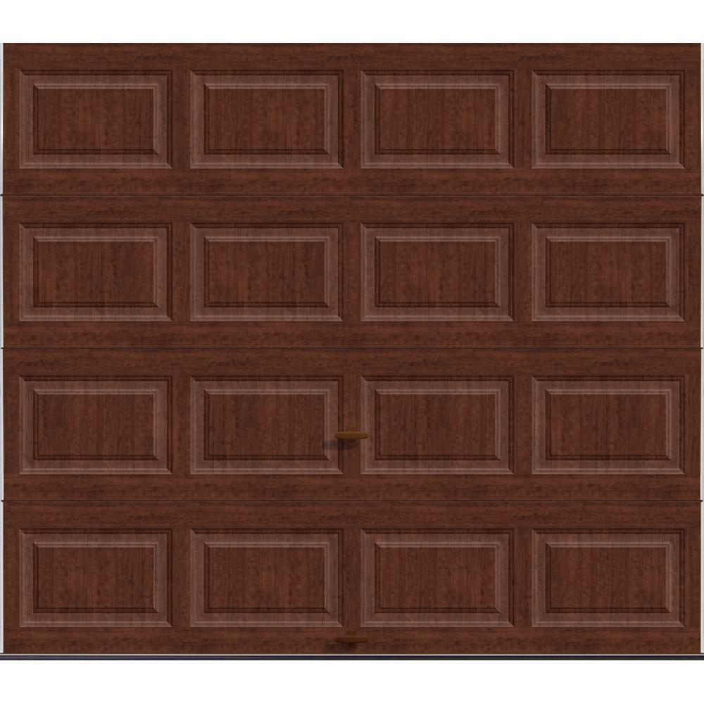 Clopay Premium Series 8 ft. x 7 ft. 18.4 R-Value Intellicore Insulated Solid Ultra-Grain Cherry Garage Door
