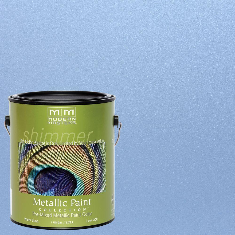 1 gal. Shimmering Sky Water-Based Satin Metallic Interior/Exterior Paint