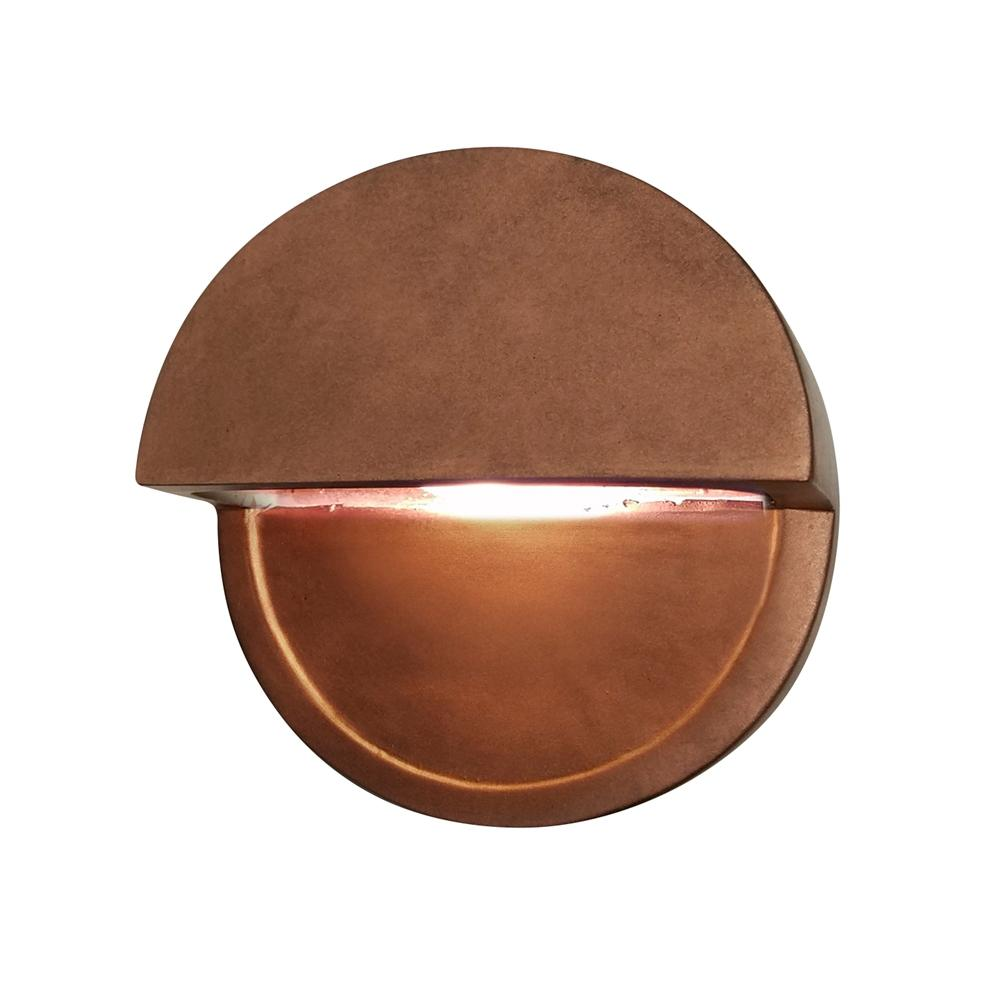 Justice Design Ambiance Dome Antique Copper Outdoor Integrated LED Sconce