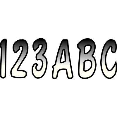 Series 200 Registration Kit, Cursive Font With Top to Bottom Color Gradations, White/Black