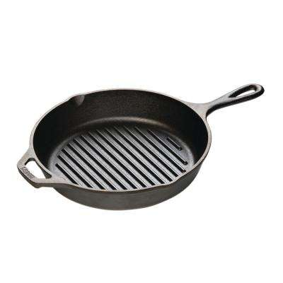10.25 in. Cast Iron Round Grill Pan