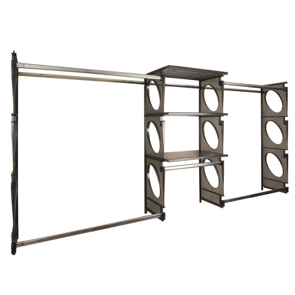 Urban Luxury 6 ft. to 8 ft. Black Closet Shelving Kit