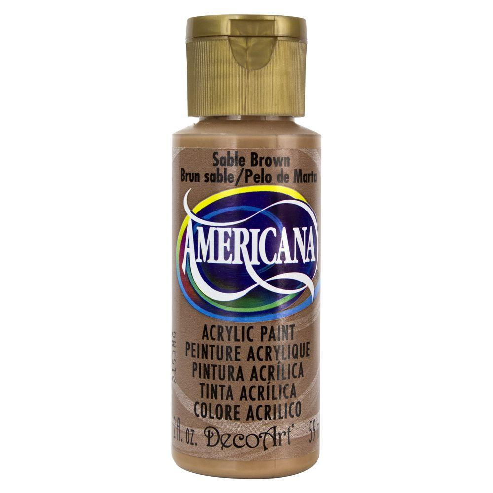 Americana 2 oz. Sable Brown Acrylic Paint