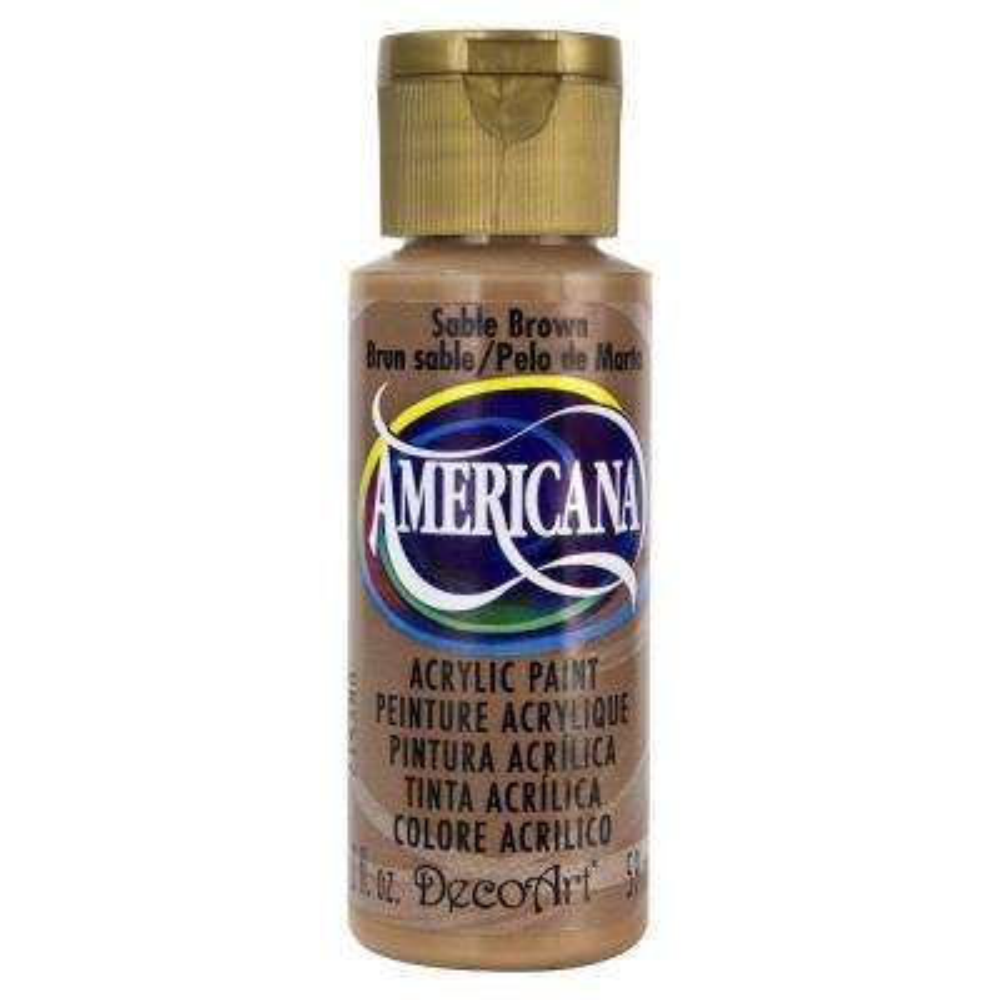 Americana 2 oz. Sable Brown Acrylic Paint