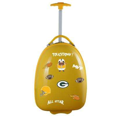 NFL Green Bay Packers 18 in. Yellow Kids Pod Luggage Suitcase